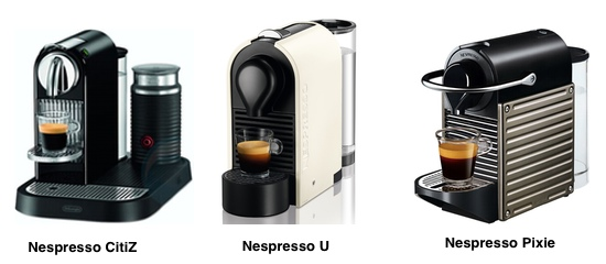 a comparison between nespresso u pixie and citiz which. Black Bedroom Furniture Sets. Home Design Ideas