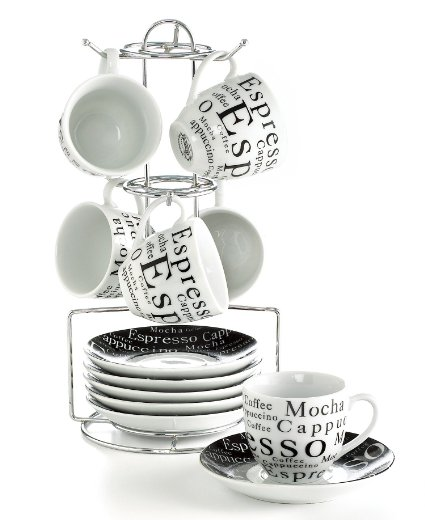 Top Rated Espresso Cup Sets With Storage Racks Coffee