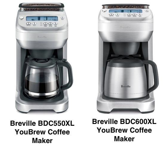 Coffee Maker Breville : The Difference Between Breville BDC600XL vs. BDC550XL YouBrew Coffee Maker Coffee Gear at Home
