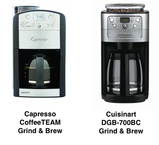 Coffee Maker Built In Grinder Reviews : Capresso vs. Cuisinart Grind & Brew Coffee Makers: What Is The Difference and Which Is Best ...