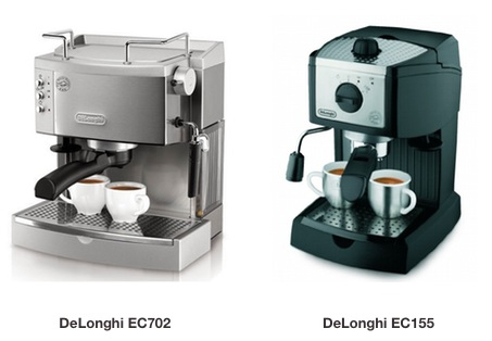 delonghi ec702 vs ec155 espresso makers whatu0027s the difference and which should you buy coffee gear at home - Delonghi Espresso Machine