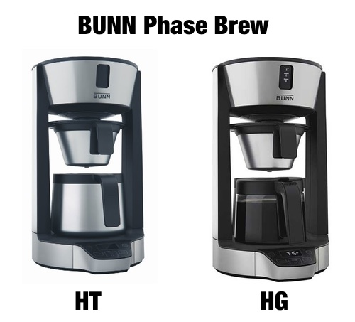 BUNN Phase Brew: HG vs HT - How They re Different... Coffee Gear at Home