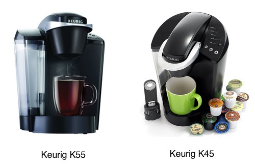 Is there a difference between keurig k55 and k45 coffee for K45 elite