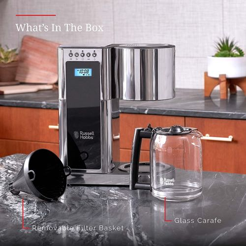 Review of Russell Hobbs Glass Series 8-Cup Coffee Maker: Is It Worth It? Coffee Gear at Home
